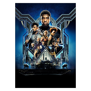 Панорамный постер Black Panther