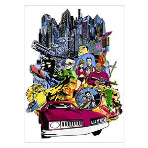 Панорамный постер Grand Thieft Auto